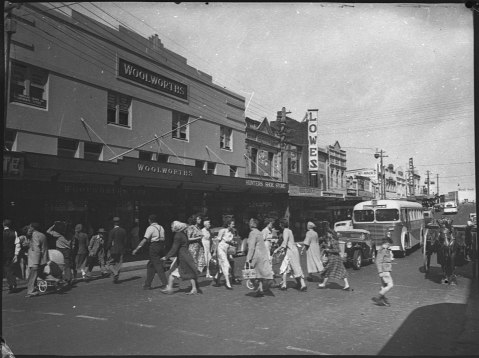 Stockland, former Woolworths, Fosseys art deco store, 1951. To be demolished by council 2013