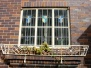 Art deco motifs grace these windows